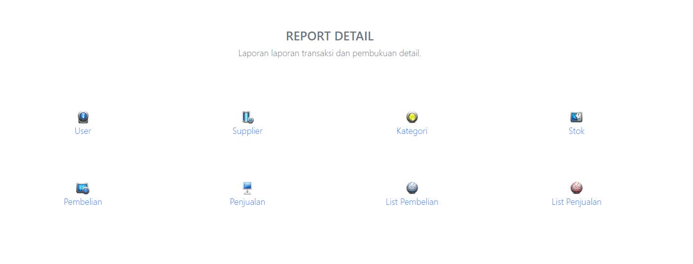 laporan laporan detail report aplikasi kasir ONLINE android iphone windoWs