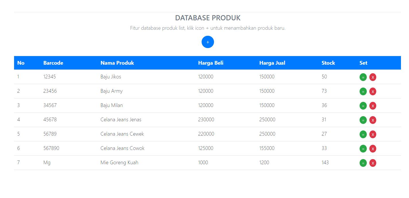 laporan stok produk aplikasi kasir ONLINE android iphone windoWs