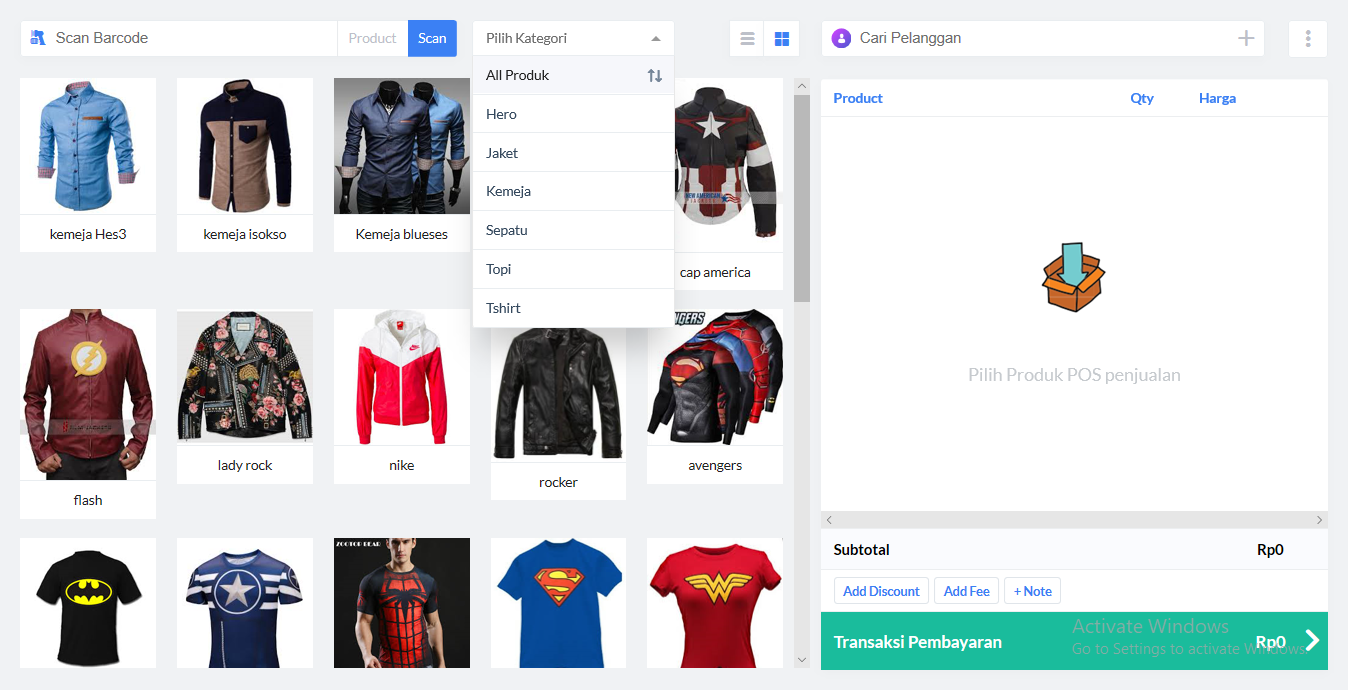 aplikasi kasir ONLINE shop toko online android iphone windoWs
