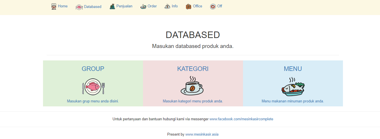database makanan minuman Aplikasi restoran cafe android iphone