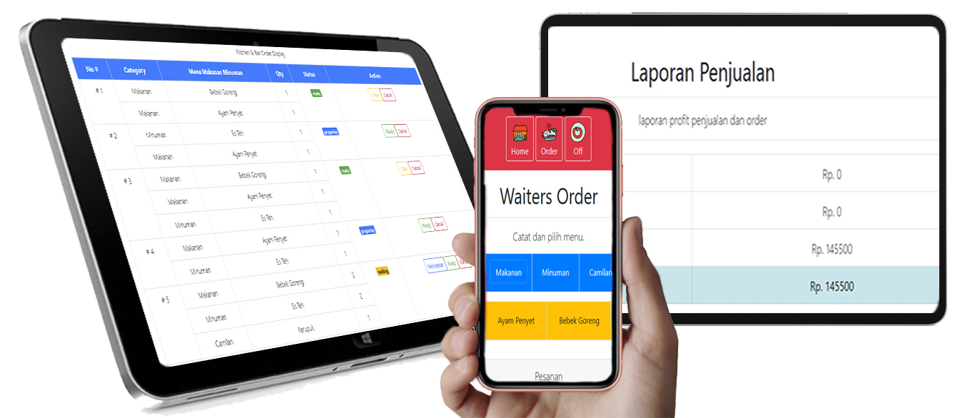 aplikasi android iphone restoran cafe
