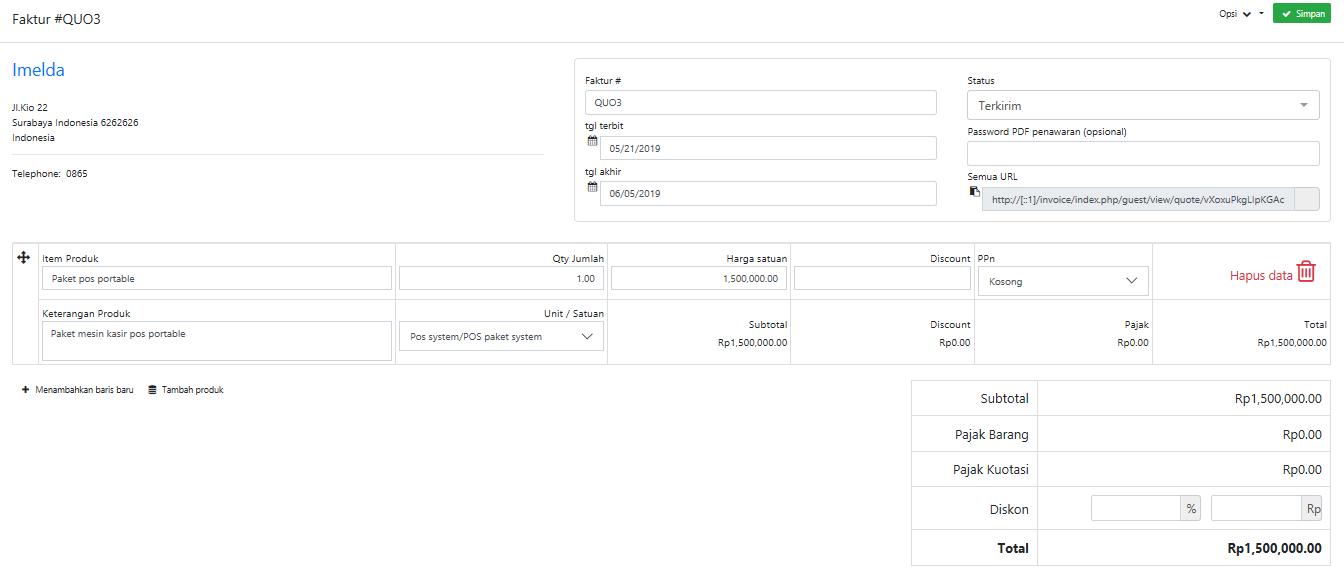 aplikasi invoice inventori online