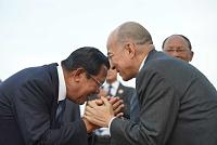 King returns to Phnom Penh after...