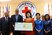 The Red Cross of Cambodia donates US...
