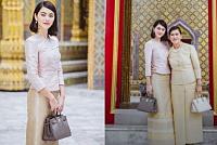 Maya Vika wearing Thai suit to the...