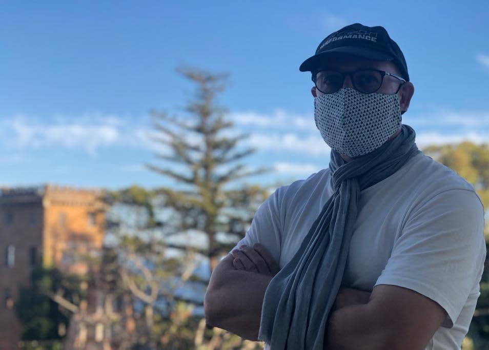 Ralf Borchert with mask.