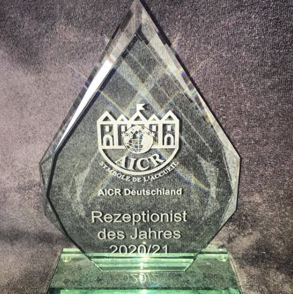 AICR Receptionist of the year 2021