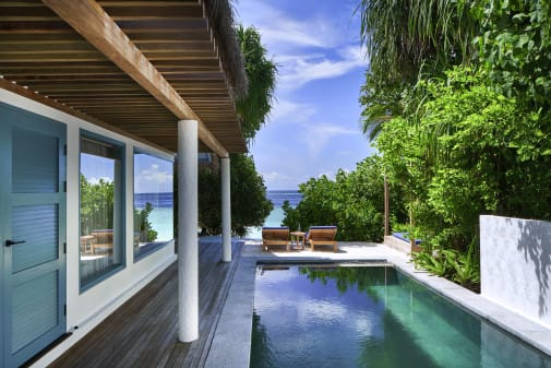 Sunset Beach Villa im Raffles Maldives Meradhoo