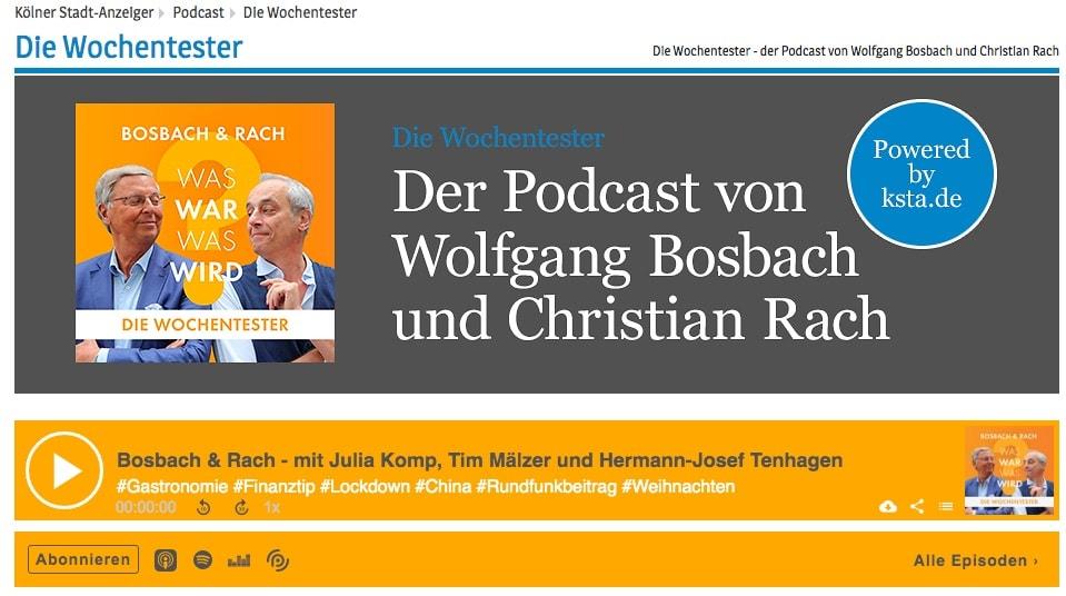 Die Wochentester - Podcast mit Wolfgang Bosbach und Christian Rach