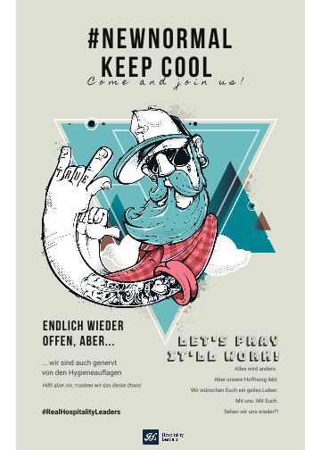 Holedo Gastro Plakat New Normal keep cool