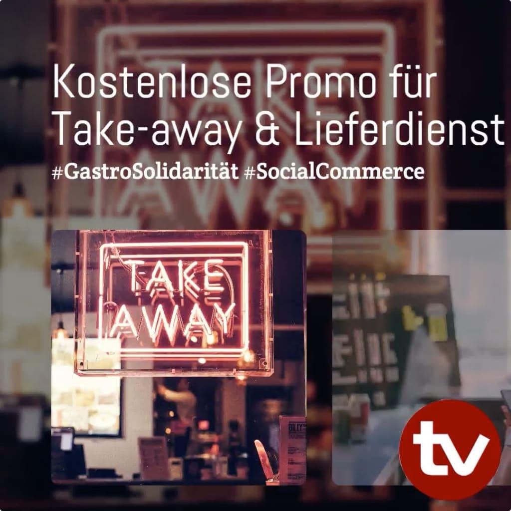 Kostelose Promo für Tale away und Lieferdienst