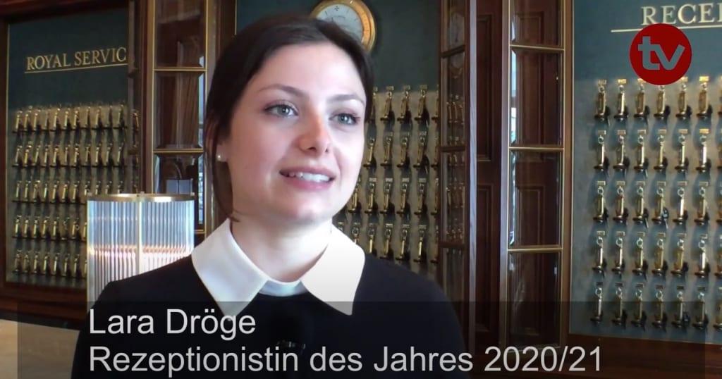 Lara Dröge ist Rezeptionistin des Jahres 2020/21