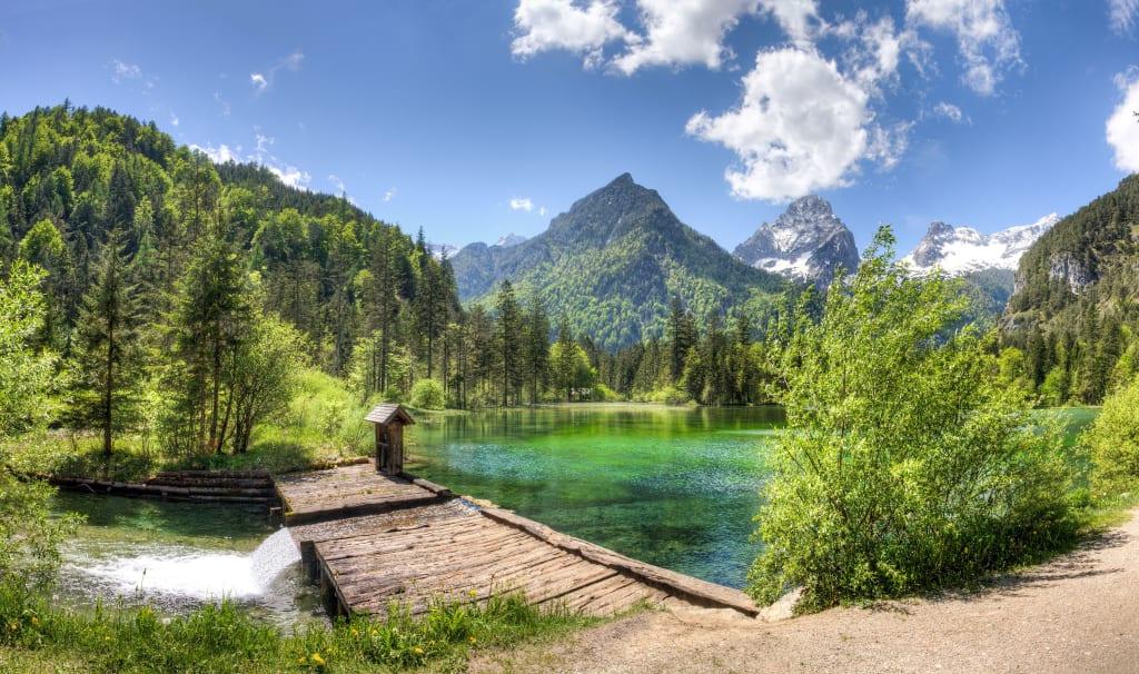 Blick auf den Schiederweiher und das Tote Gebirge in Hinterstoder, Urlaubsregion Pyhrn-Priel