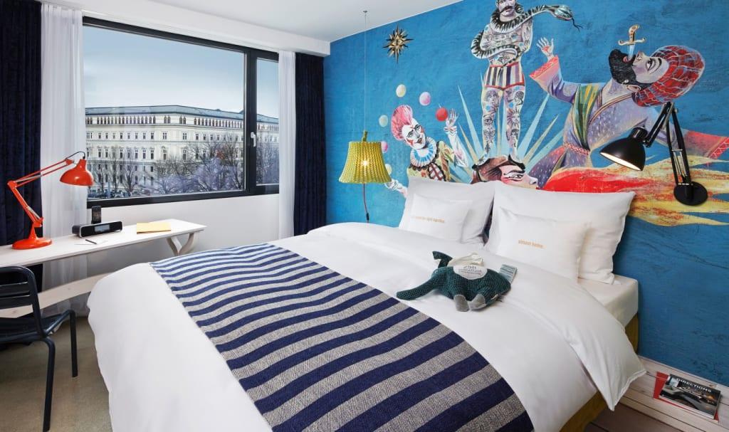 Zimmer im 25 Hours Hotel Museumsufer Wien