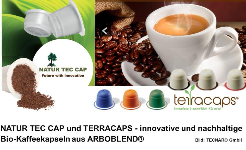 NATUR TEC CAP und TERRACAPS - innovative und nachhaltige Bio-Kaffeekapseln aus Arboblend