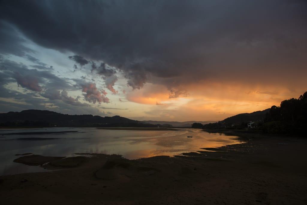 Sonnenunterrang in Asturien,. Spanien