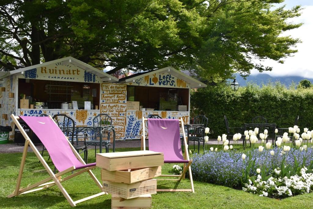 Das Pop-up-Restaurant «LeftLovers» während der Bad RagARTz Ausstellung. (Foto: Grand Resort Bad Ragaz)