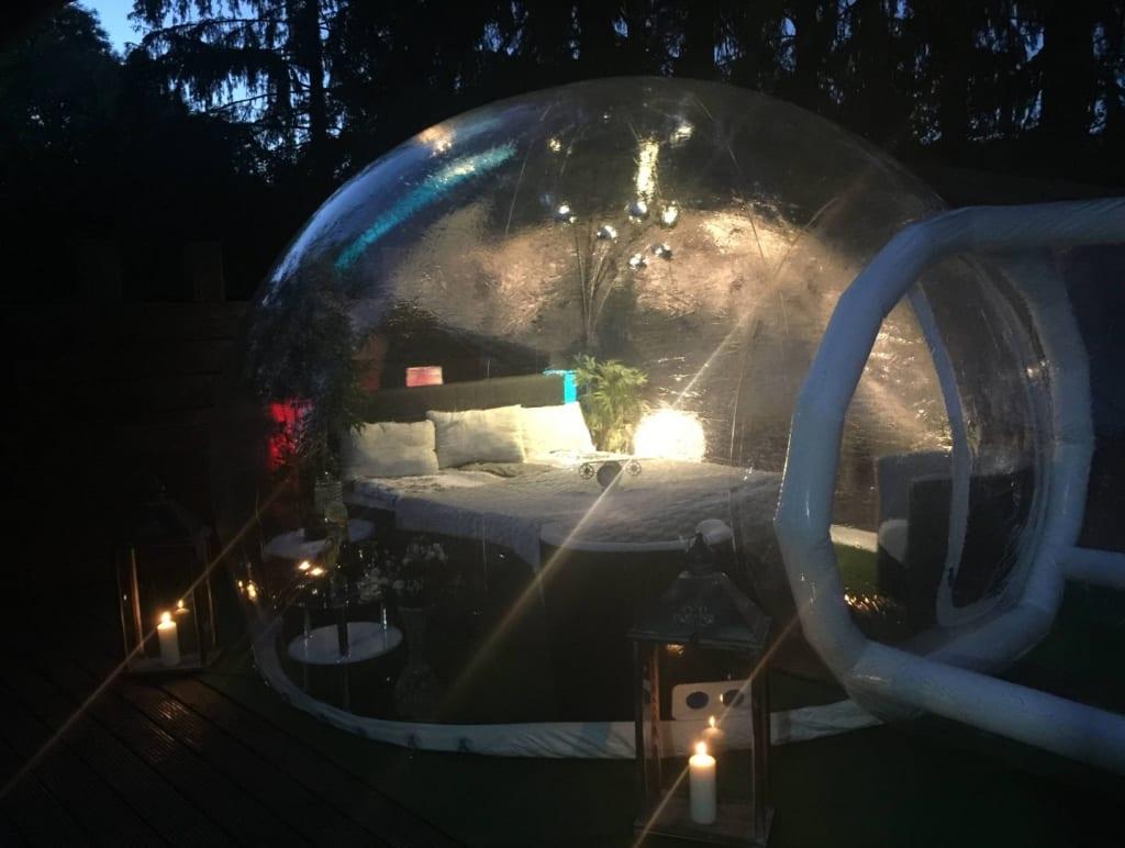 Crazy Bubble-Hotel - so schläft es sich in einer Luftblase