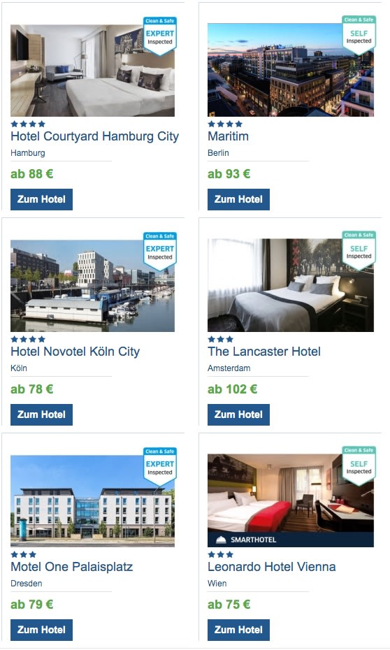 Clean & Safe Hotels bei HRS
