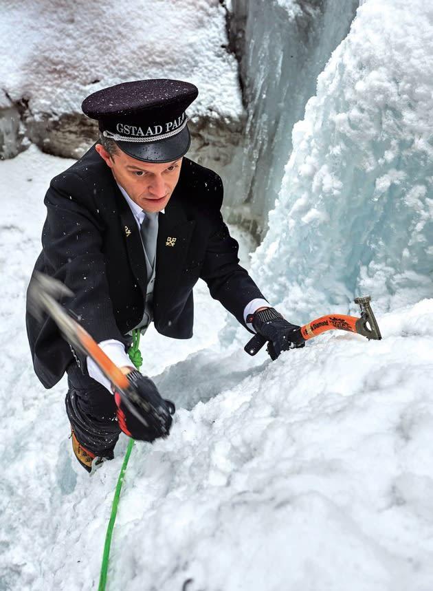 Eisklettern? Kein Problem für Stefano Bertalli, Concierge des Jahres 2020