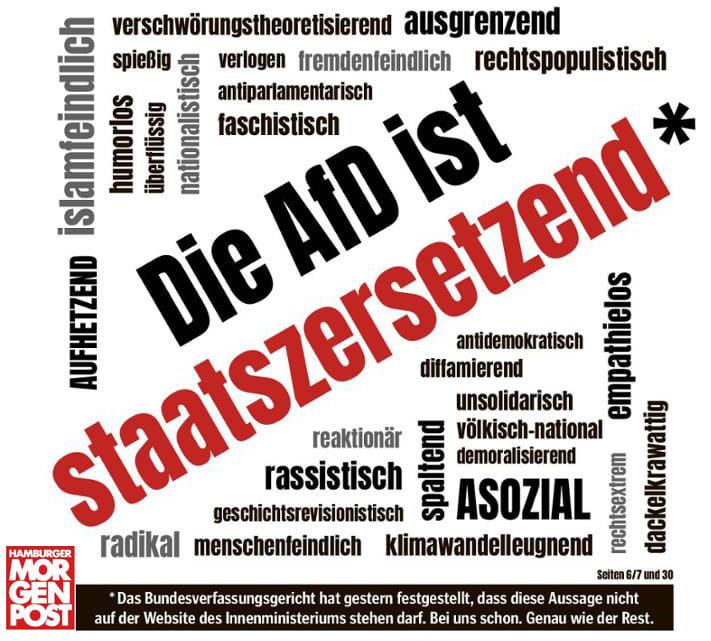 "Mopo Titelseite ""Afd ist staatszersetzend""2"