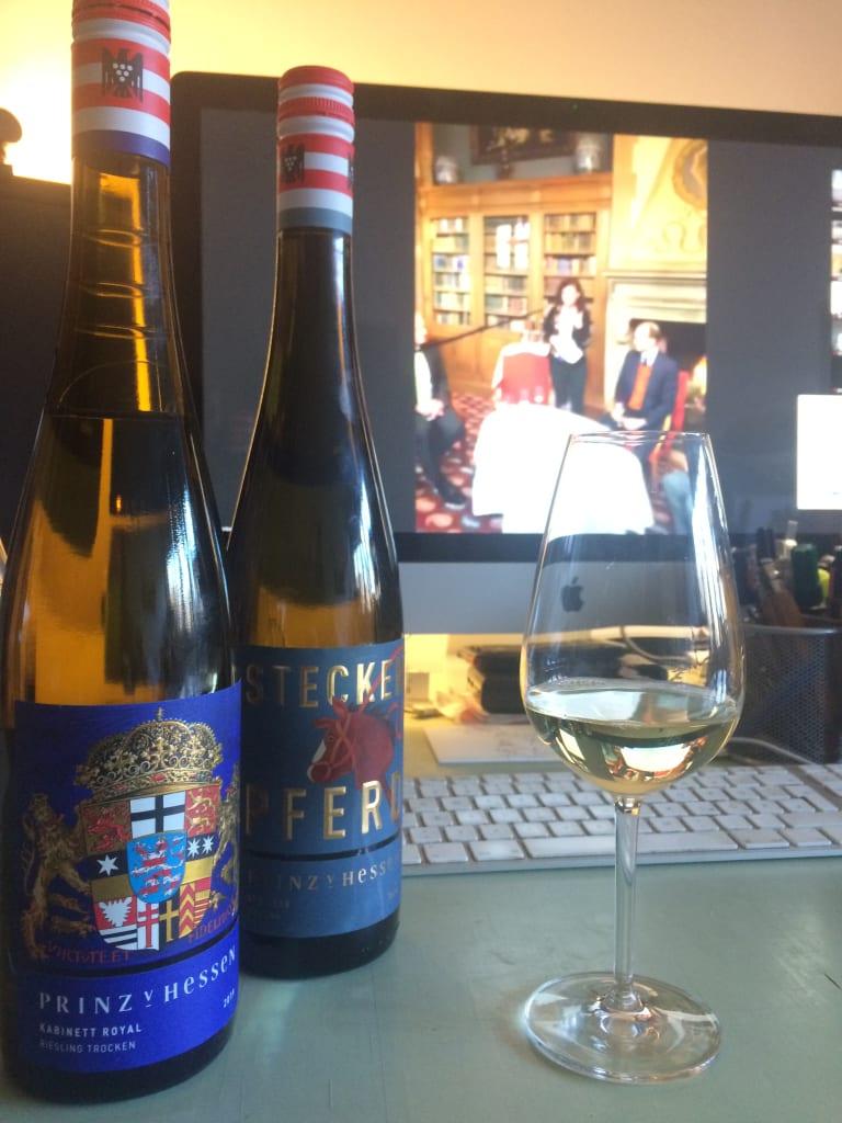 Online-Weinverkostung mit den Weingut Prinz von Hessen und dem Schlosshotel Kronberg