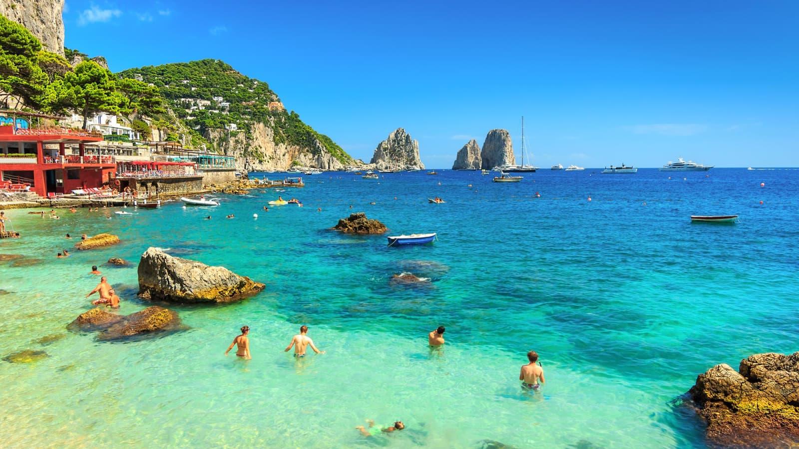 Capri Holidays | Island of Capri, Italy - Topflight  |Capri Beach Scenes