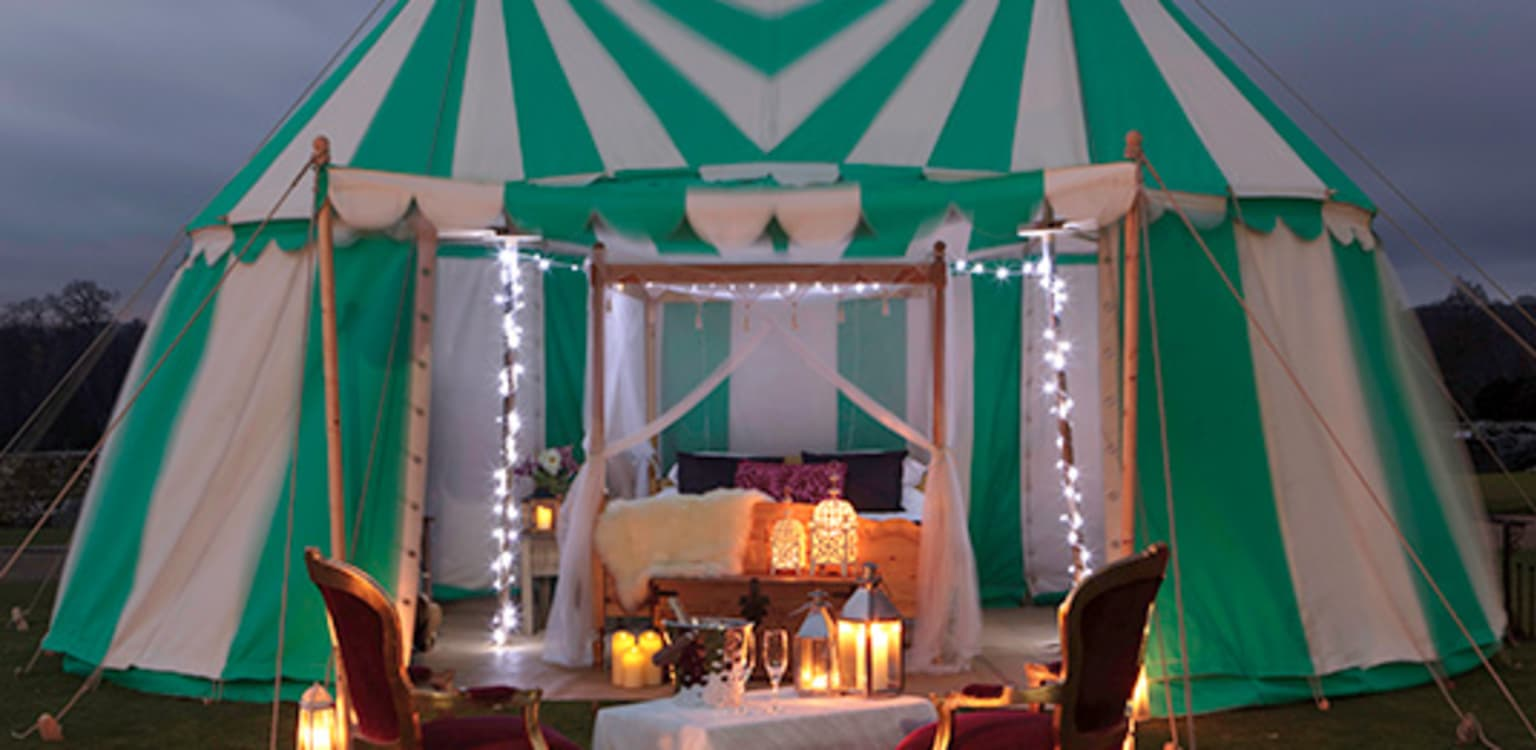 Leeds Castle Knights Glamping