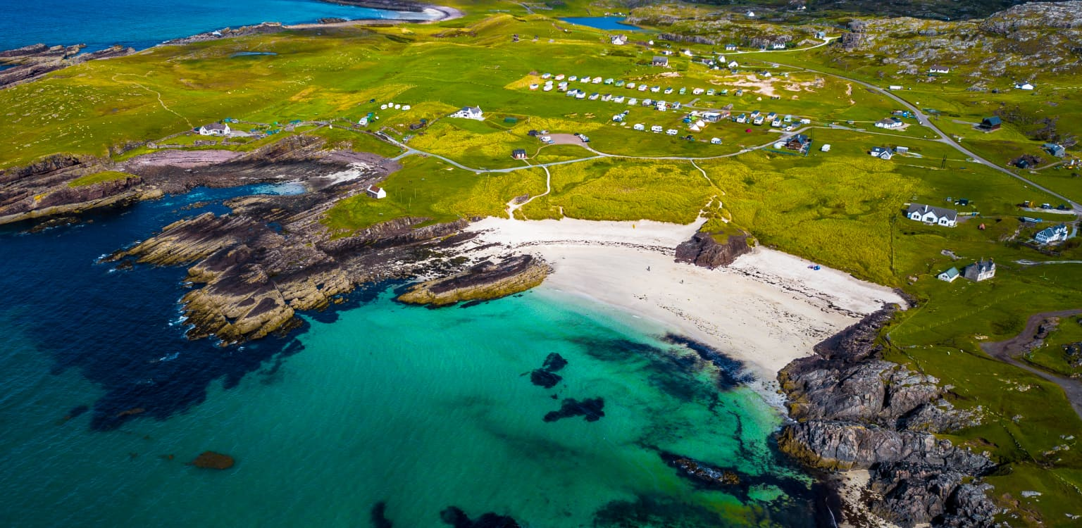 Clachtoll beach campsite, Lochinver