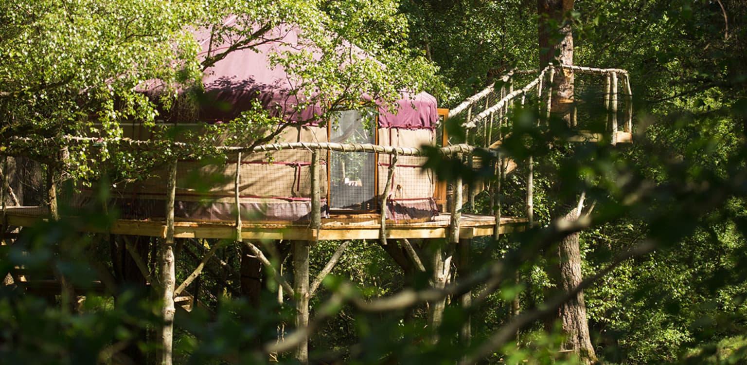 Houlet the Treehouse Yurt, Northumberland