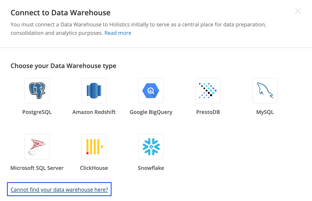 Connect Data Warehouse