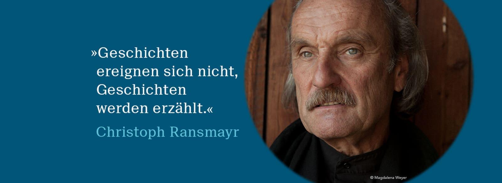 Christoph Ransmayr Banner