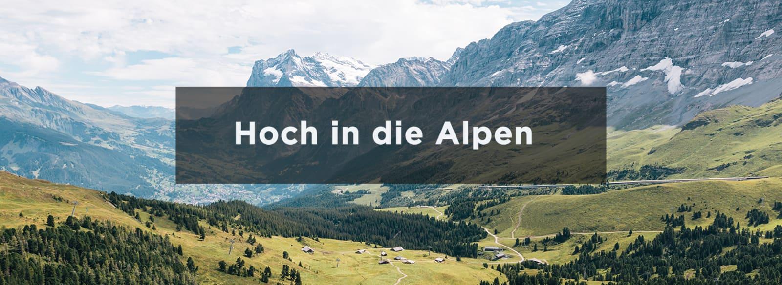 Bild von den Alpen