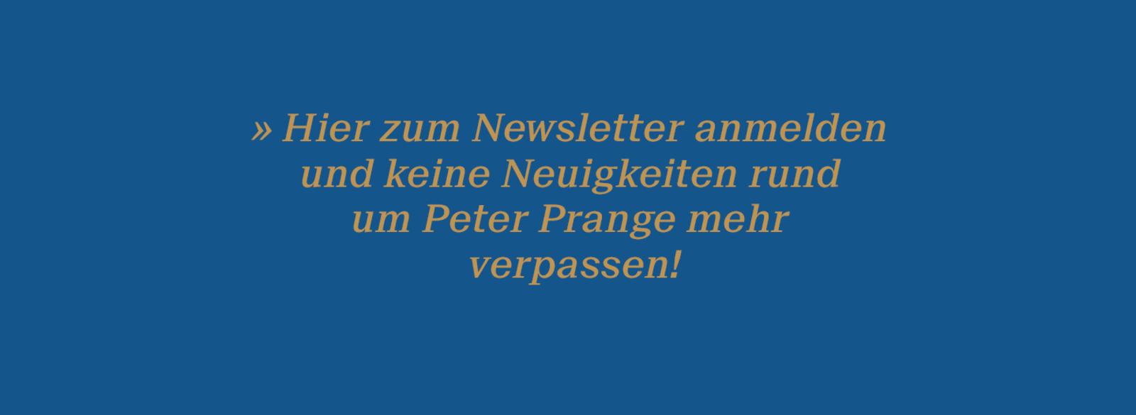Newsletter Peter Prange Banner