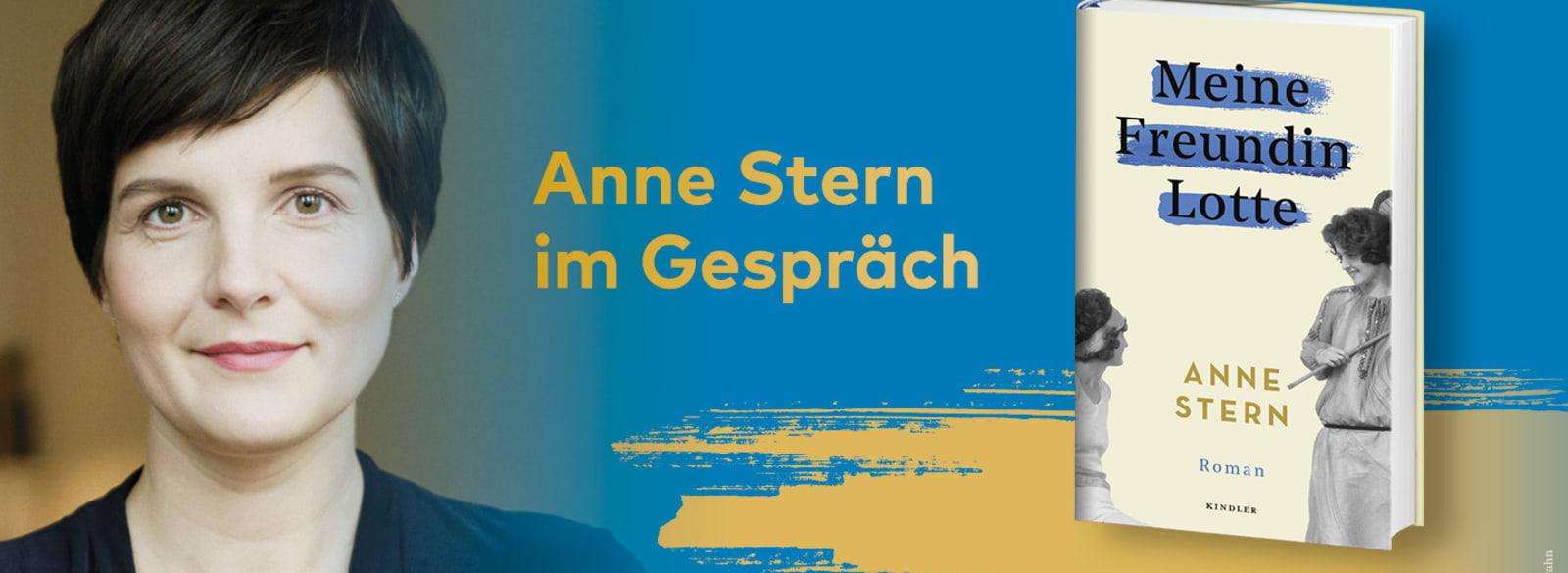 Grafik mit Anne Stern und ihrem Buch
