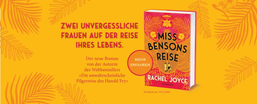 Miss Bensons Reise Vorankündigung mit Cover