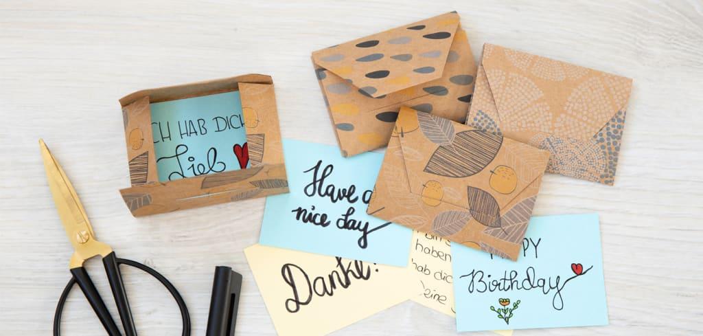 DIY Mini Briefe