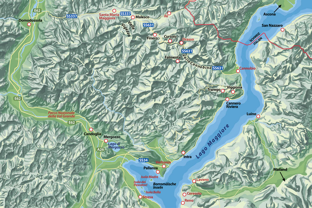 Die Karten zu »Intrigen am Lago Maggiore«