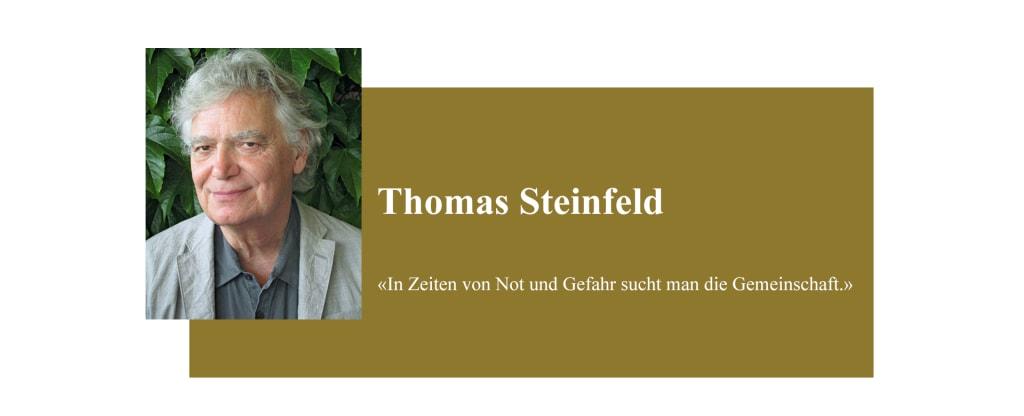 Banner zum Coronabeitrag von Thomas Steinfeld