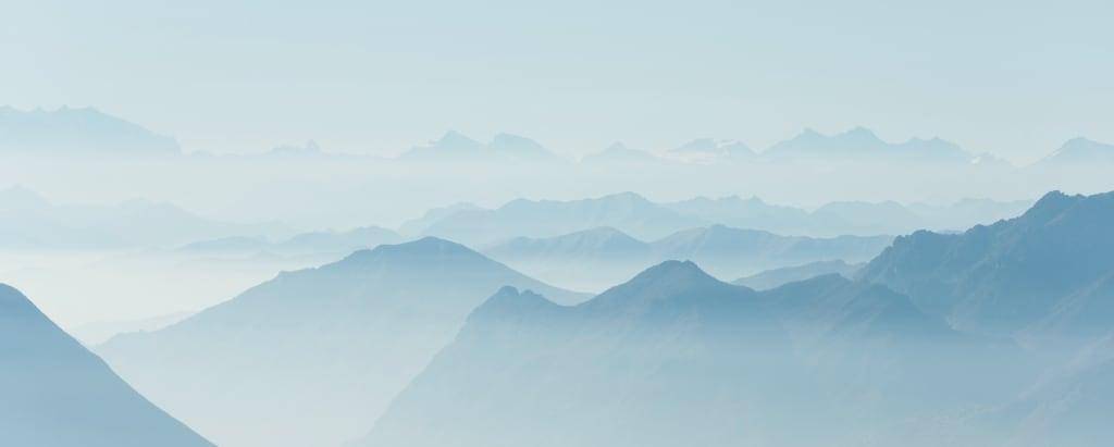 Neblige Landschaft