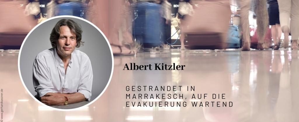 Albert Kitzler, gestrandet in Marrakesch, den 20.03.2020, auf die Evakuierung wartend