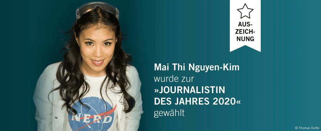 Auszeichnung_Mai Thi Nguyen-Kim_Journalistin des Jahres 2020