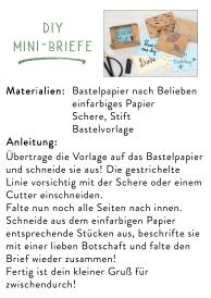 Downloadvorlage DIY Mini-Briefe
