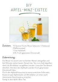 Downloadvorlage DIY Apfel-Minz-Eistee