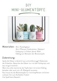 Downloadvorlage DIY Mini-Blumentöpfe