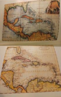 Zwei Karten vom Königreich Redonda