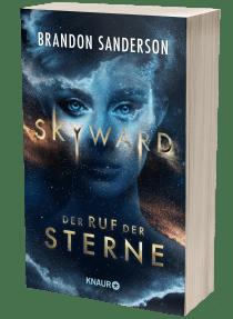 """Buchblock Brandon Sandersons Buch """"Skyward. Der Ruf der Sterne"""""""