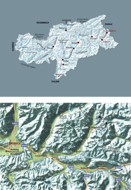Die Karten zu »Das Leuchten über dem Gipfel«