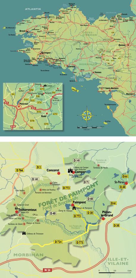 Die Karten zu »Bretonische Geheimnisse«
