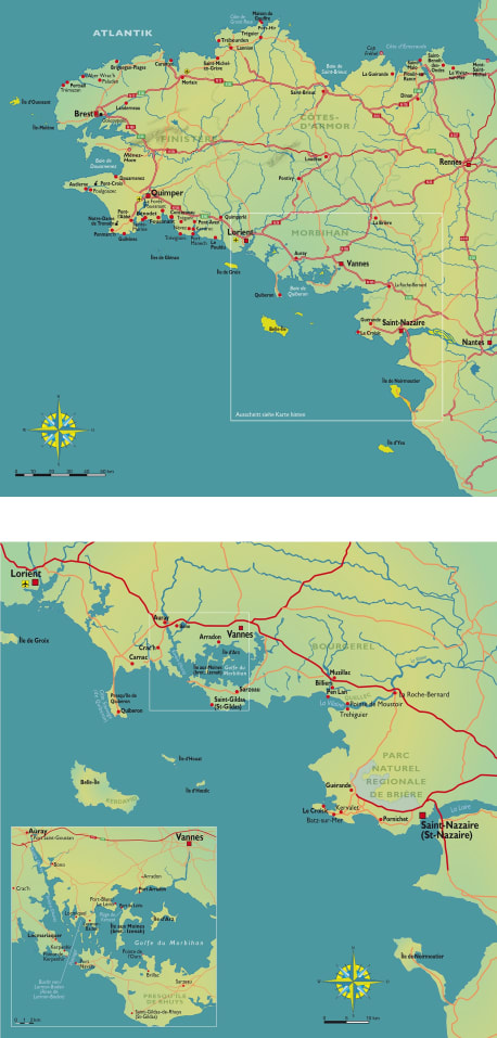 Die Karten zu »Bretonisches Gold«